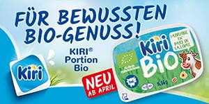 Für bewussten Genuss: Kiri® Portion Bio
