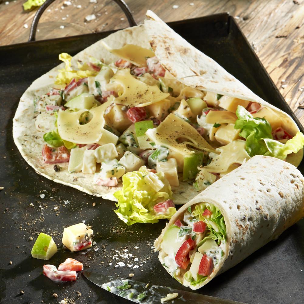 Wrap mit Leerdammer-Salat