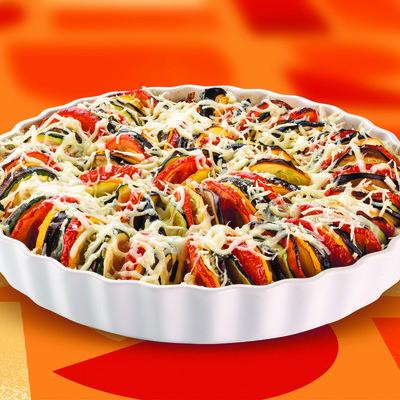 Zucchini-Auberginen-Auflauf