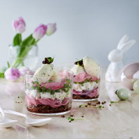 Boursin-Sandwich im Glas